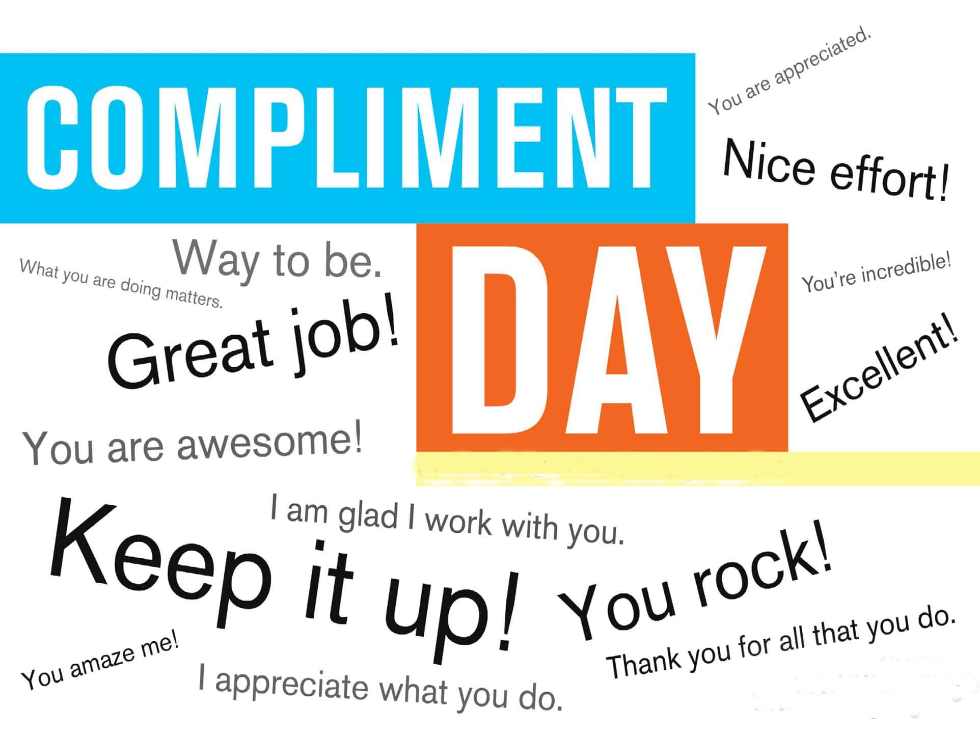 Thanks For The Great Work : How to give a compliment ty bennett